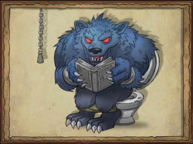 WerewolfOnToilet