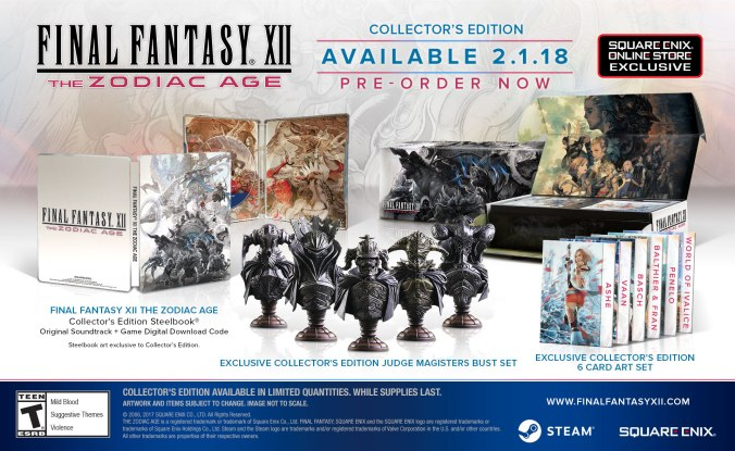 Final Fantasy XII: The Zodiac Age PC Collector's Editioj