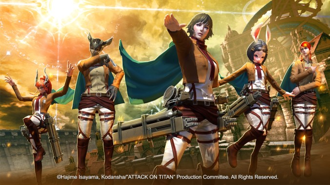 TERA × Attack on Titan 01